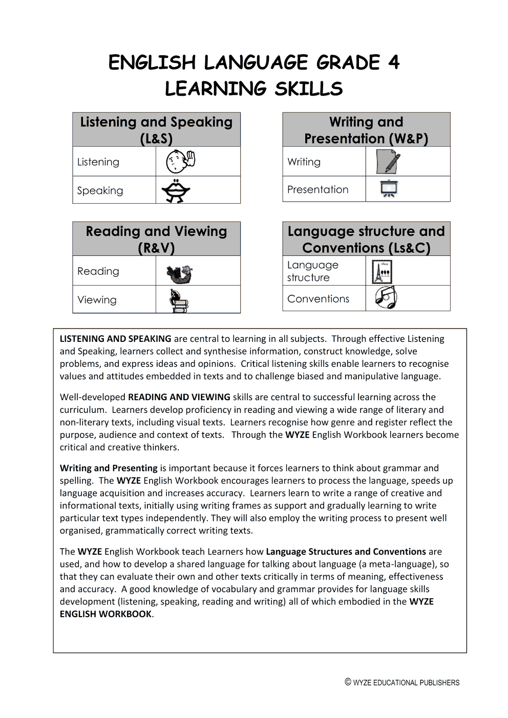 wyze english gr  4 workbook   teacher u2019s memorandum